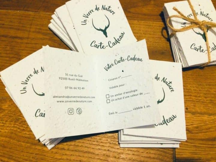 Un Verre de Nature Cartes-Cadeaux ensemencées